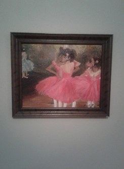 this is an imitation piece from Degas Dancers in Pink done in oil 16x20 canvas panel